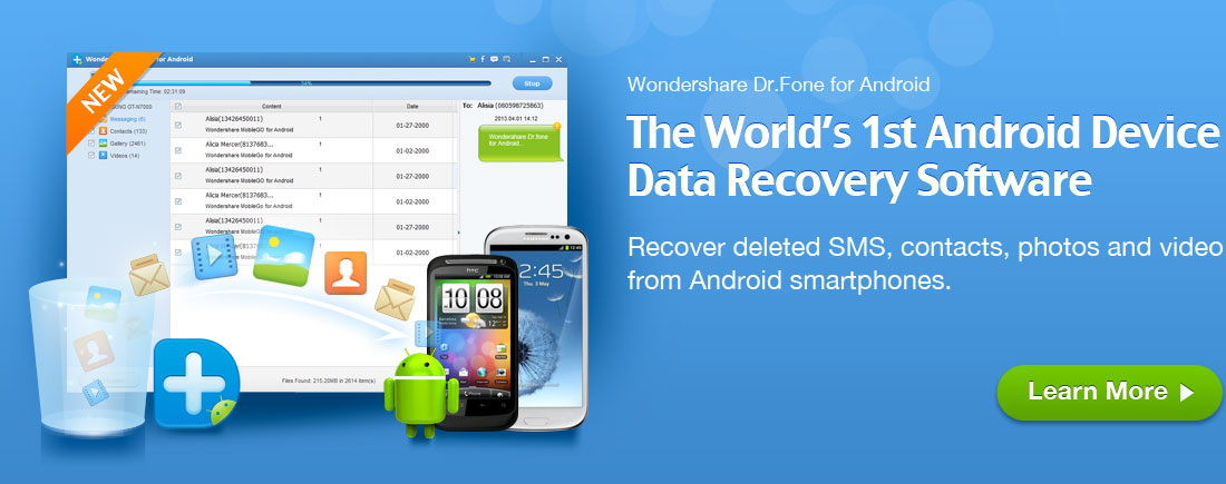 Android Data Recovery/Transfer, Samsung/HTC/Sony Recovery